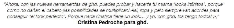 Opinión Secador de pelo GHD Cristina Pedroche