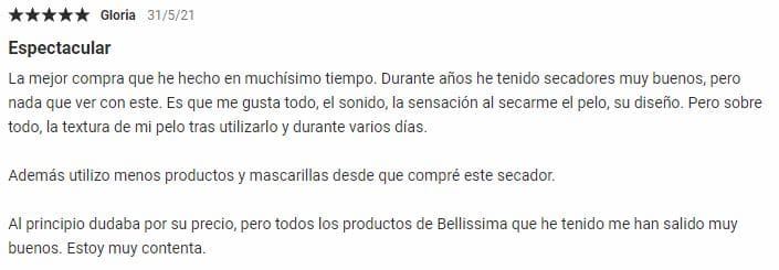Opinionees secador Bellissima My Pro Hydra Sonic